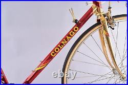 1980's Colnago Oval CX Oro Campagnolo Super Record 55cm Pantographed Road Bike