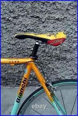 Bianchi mega pro pantani campagnolo record 9 shamal italy vintage bike