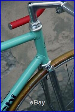 Bianchi pista x4 campagnolo super record track italian steel bike specialissima