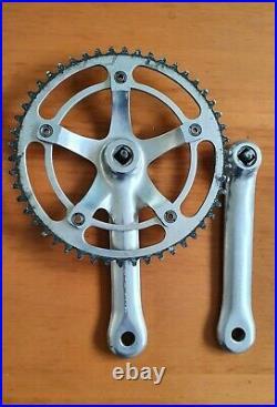 CAMPAGNOLO C-RECORD PISTA 170 crankset vintage italian track bike