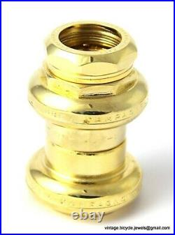 CAMPAGNOLO NUOVO RECORD HEADSET GOLD PLATED STEEL Vintage Race Bike