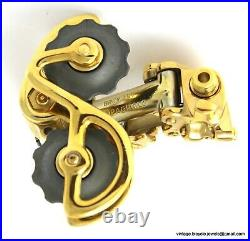 Campagnolo Nuovo Record Rear Mech Gear Derailleur Gold Plated Vintage Race Bike
