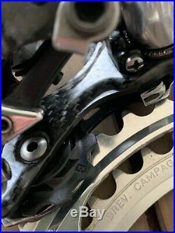 Campagnolo Record 10 speed group set crank derailleur brakes ergo vintage bike