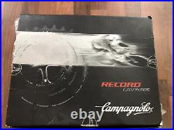 Campagnolo Record 9/10 Speed Triple Cranks Chainset Vintage NOS Titanium