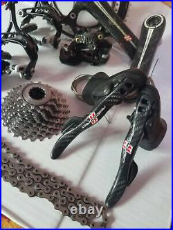 Campagnolo record carbon road bike groupset 11speed in good condition