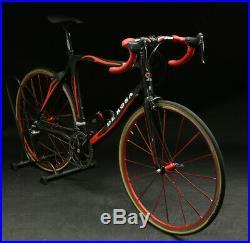 De Rosa Tango 58cm Carbon Road Bike Campagnolo Record Titanium Italy NICE