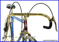 Luxury Vintage Race Bike ORTELLI 70S CAMPAGNOLO SUPER RECORD 1ST GEN GOLD PLATED