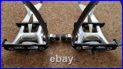 MKS RX-1 Bike Pedals with Campagnolo Super Record Toe Clips Vintage Retro Eroica