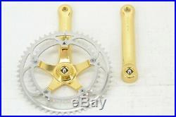 NOS NIB Campagnolo C-Record 24k Gold Colnago C35 Vintage Road Bike Crank-Set