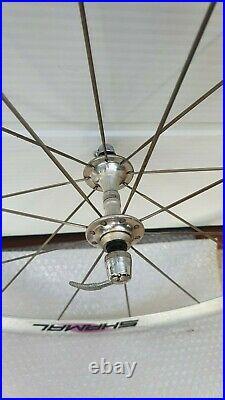 NOS wheelset CAMPAGNOLO SHAMAL 16 700c vintage italian road bike C-RECORD NEW