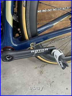 Ridley helium Slx size L campagnolo super record 12 Ceramicspeed Rotor Inpower