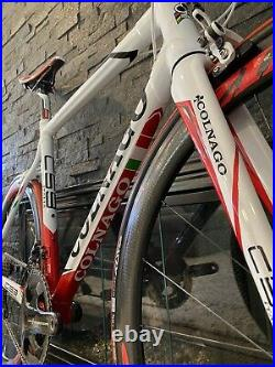 SUPER CLEAN Colnago C59 Lugged Carbon Campagnolo Record With Zipp Wheels 54S 56cm