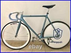 Strela laser pista bicycle with campagnolo record pista, shamal & ghibli wheels