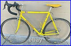Very Nice Waterford R2200 1999 56cm Yellow Bicycle Mostly Campagnolo Record