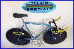 Vintage 1984 DACCORDI LA84 PURSUIT PISTA BIKE, Campagnolo Super Record Track ICS