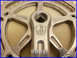 Vintage Campagnolo Strada Record Bicycle Crankset. Double. 52 43t. 170mm