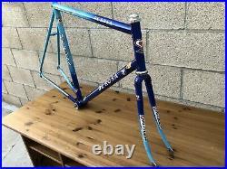 Vintage De Rosa Size 59cm titanium Road Bike frame set campagnolo record in nice