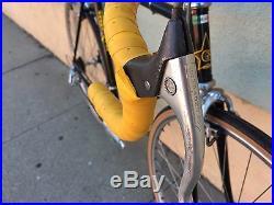 Vintage Guerciotti Italian Steel Road Bike 55cm Campagnolo Columbus Nuovo Record