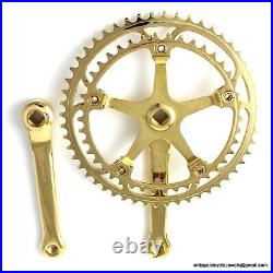 Vintage Race Bike Campagnolo SUPER RECORD 170MM CRANKSET CHAINSET GOLD PLATED