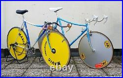 Vintage time trial TT bicycle Campagnolo Super Record Mavic Challenger discwheel